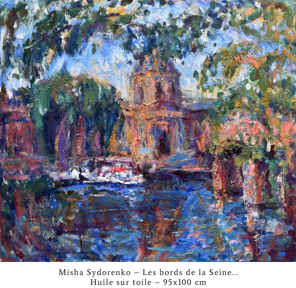 CAPTIONLes bords de la Seine... Huile sur toile. 95x100 cm_resize